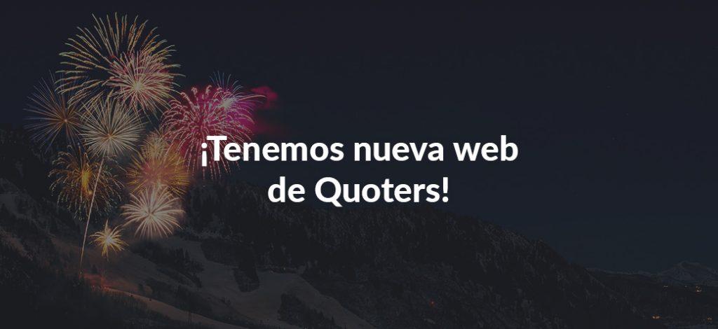 Nueva web de Quoters - septiembre de 2018