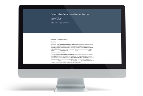 Plantilla de contrato de arrendamiento de servicios