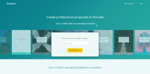 Proposal Software Options: Bidsketch