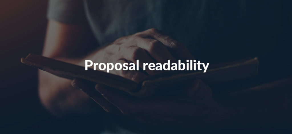 Improve your proposal readability