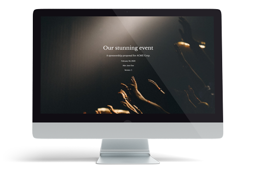 Event sponsoring template