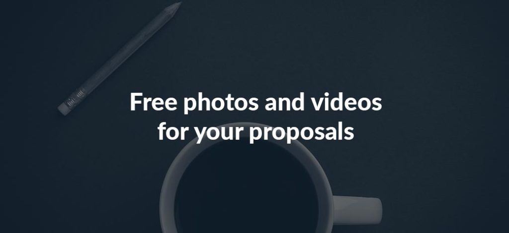 Find free photos and videos for your proposals