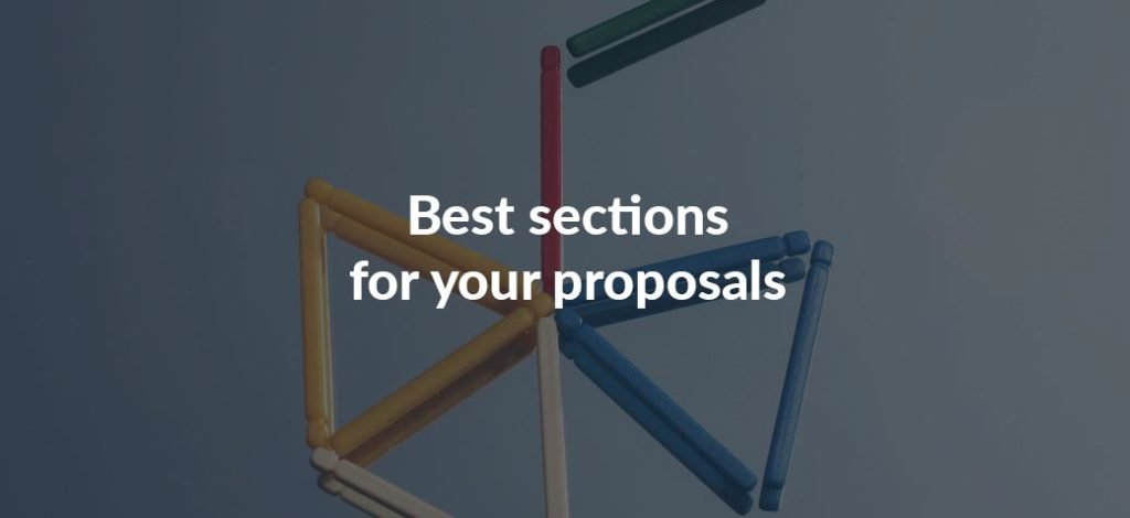 Best sections for your proposals